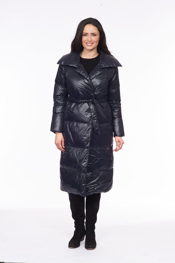 Side-Fasten-Long-Line-Wrap-Down-Coat-black-front