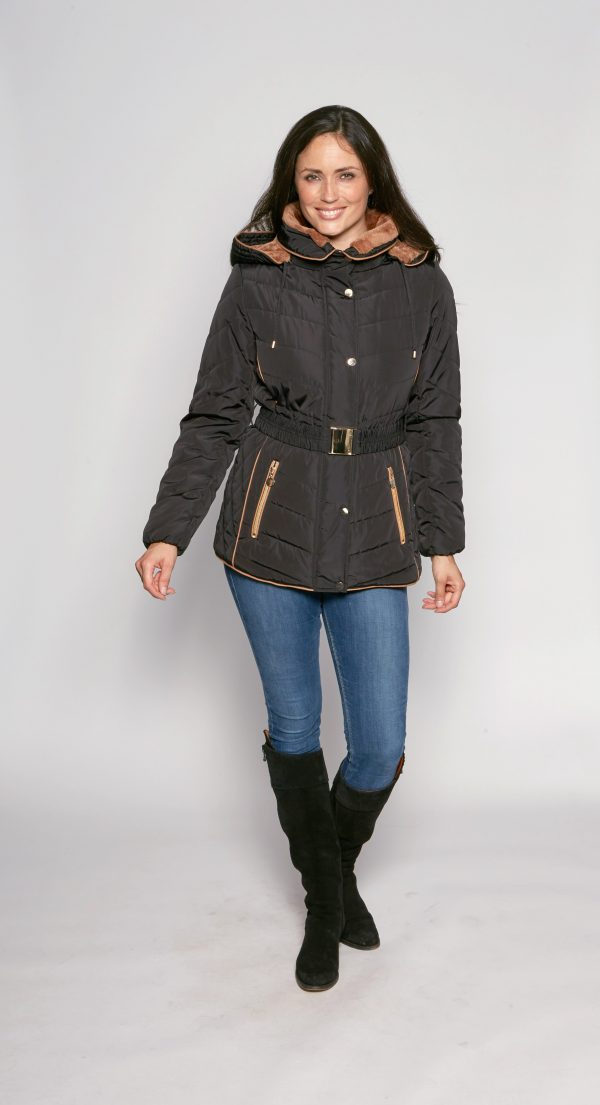 Belted-Fur-Trim-Hooded-Padded-Anorak-front-2