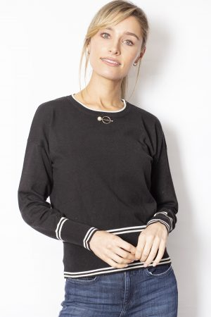 Pearl-Bead-Crew-Neck-Jumper-front-black