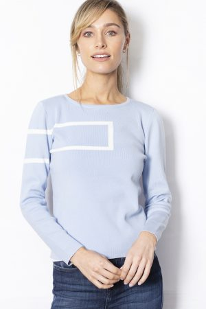 Rectangle-Print-Jumper-front-blue