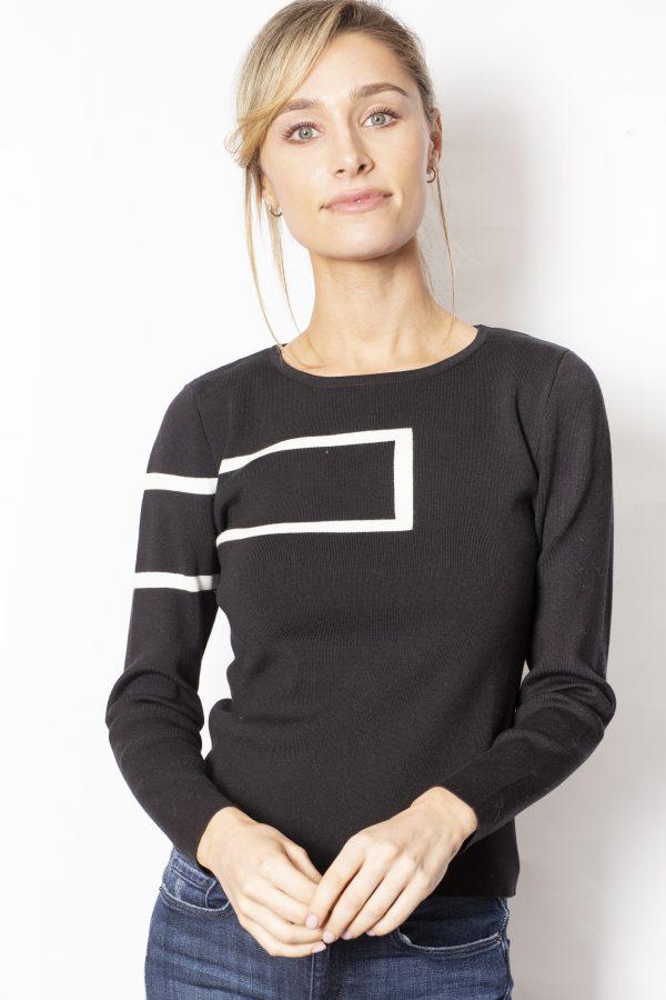 Rectangle-Print-Jumper-front-black