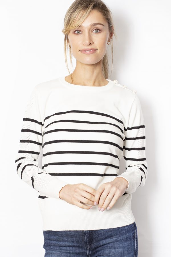 Crew-Neck-Jumper-with-Stripes-front-white