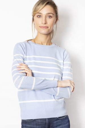 Crew-Neck-Jumper-with-Stripes-front-blue