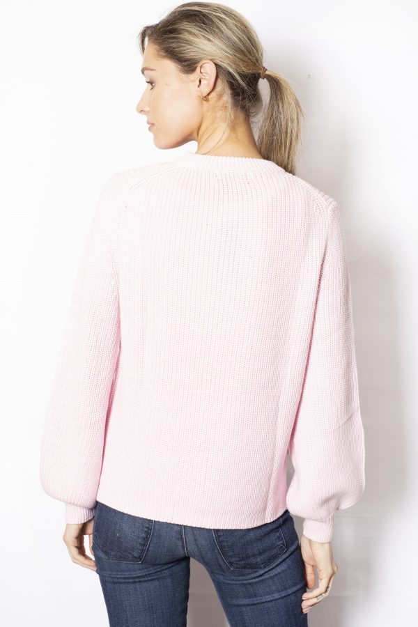 Detailed-Knit-with-Flared-Sleeves-Pink-back