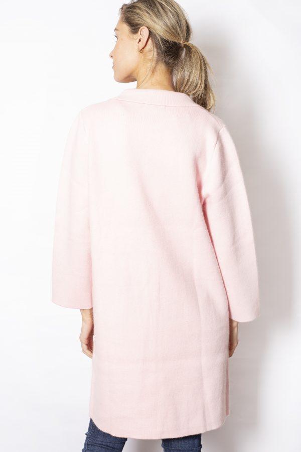 Single-Button-Pocket-Patch-Pocket-Coatigan-pink-back