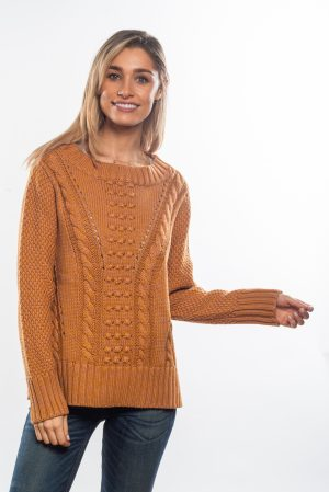 Cable-knitted-jumper-mustard-front