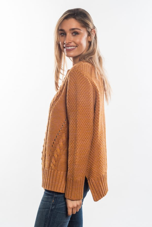 Cable-knitted-jumper-mustard-side