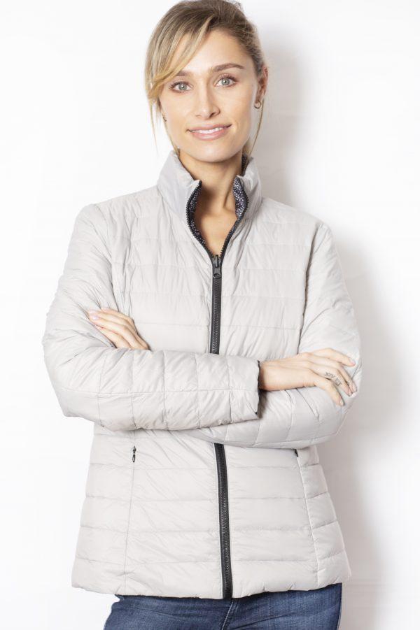 Reversible-Down-short-Jacket-silver-spot-front