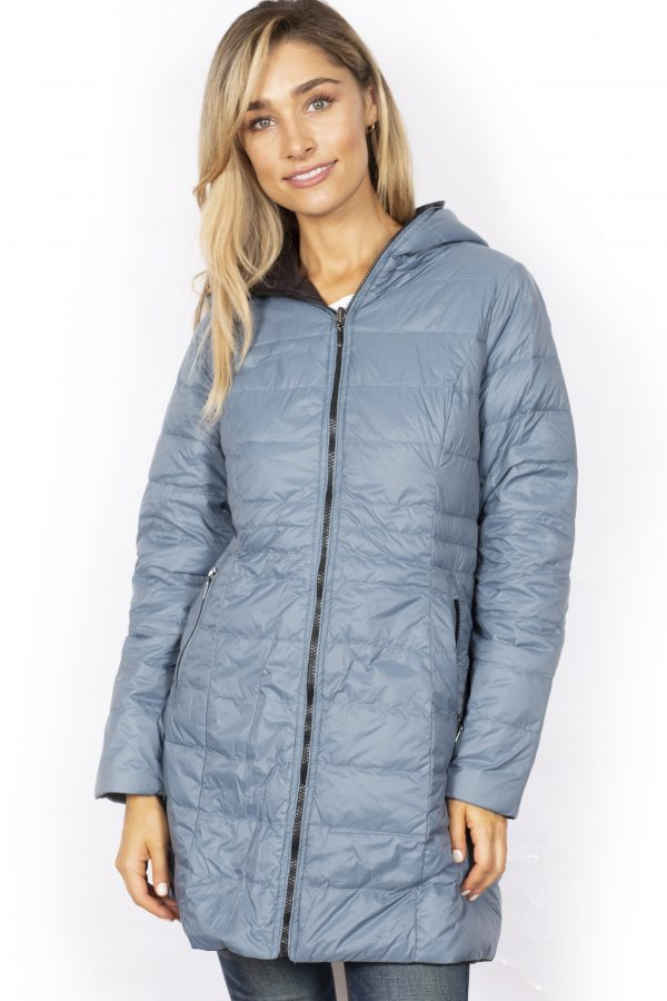 Reversible-three-quarter-Length-Down-Jacket-charcoal-front