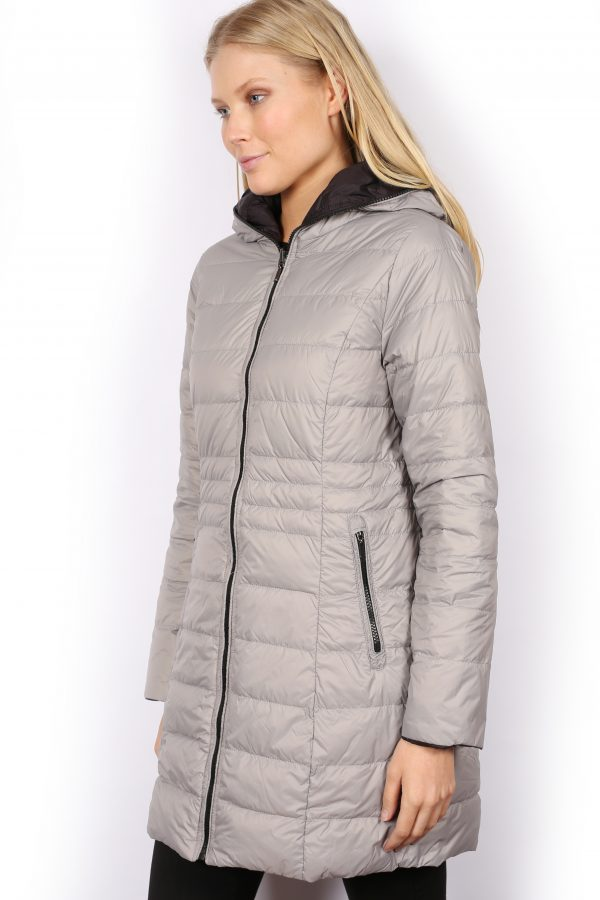 Reversible-three-quarter-Length-Down-Jacket-silver-side